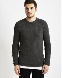 Only & Sons | Mens Knitted Crew Neck Jumper Grey | Lyst