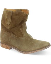 Isabel Marant Crisi Suede Concealed Wedge Ankle Boots - Lyst