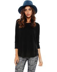 Splendid Thermal 3/4 Sleeve Top - Lyst