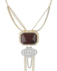 Topshop Multi-Chain And Stone Neckwear - Lyst