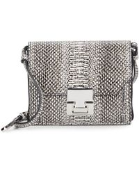 Ivanka Trump - Hopewell Snake-embossed Leather Mini Crossbody - Lyst
