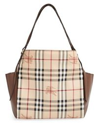 Burberry 'Small Canterbury' Haymarket Check Tote - Lyst