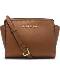 Michael Kors Michael Selma Mini Messenger Bag - Lyst