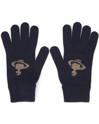 Vivienne Westwood - Navy Orb Wool Blend Gloves - Lyst