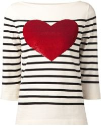Marc Jacobs Heart Striped Sweater - Lyst