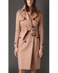 Burberry Long Double Cashmere Trench Coat - Lyst