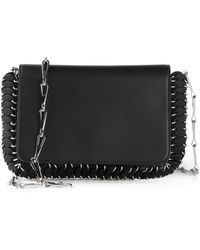 Paco Rabanne Chainmail-Detail Calf-Leather Shoulder Bag - Lyst