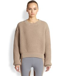 Marc Jacobs Cropped Chunky-Knit Pullover - Lyst