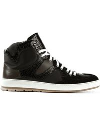 Dior Homme Contrast Hitop Trainers - Lyst