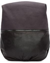 Côte&Ciel - Grey Canvas Nile Alias Backpack - Lyst