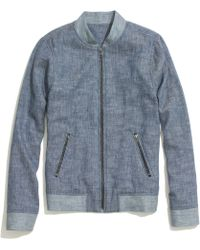 Madewell Blue Stickball Jacket - Lyst