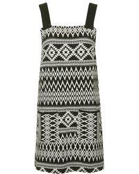 Topshop Aztec Pinafore Dress - Lyst
