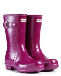 Hunter Original Short Gloss Rain Boots - Lyst