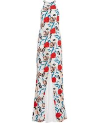 Thakoon Floral-Print Crepe Gown multicolor - Lyst