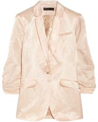 Elizabeth And James Jamie Crinkled Cotton-blend Blazer - Lyst