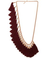 Eddie Borgo - Silk Tassel and Goldplated Necklace - Lyst
