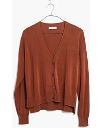 Madewell Cardigan Crop Sweater - Lyst