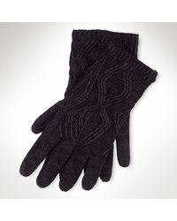 Ralph Lauren Black Label Knit Gloves - Lyst
