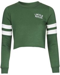 Topshop | Petite Lincoln Embroidered Sweatshirt | Lyst
