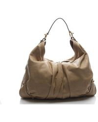 Gucci Large Tan Leather Jockey Hobo Bag - Lyst