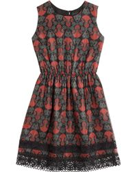 Anna Sui Printed Dress - Lyst