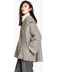 H&M Wide Jacket in A Wool Blend - Lyst