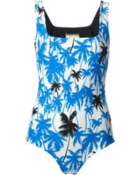 Fausto Puglisi - Palm Tree Print Onepiece - Lyst