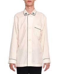 Alexander McQueen - Long-sleeve Pajama Shirt With Trim - Lyst