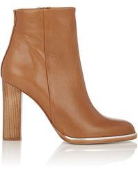 Veronique Branquinho - Specchio-trimmed Ankle Boots - Lyst