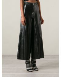 Jean Paul Gaultier Leather Trouser Skirt - Lyst