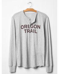 Gap Oregon Trail Graphic Henley - Lyst