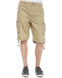 Diesel Overdyed Poplin Cargo Shorts khaki - Lyst