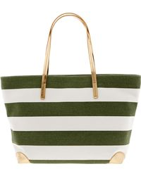 Banana Republic Kennedy Canvas Tote Canopy Green - Lyst