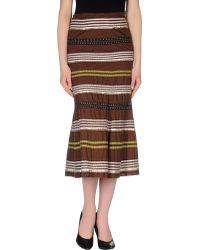 Easton Pearson 34 Length Skirt - Lyst