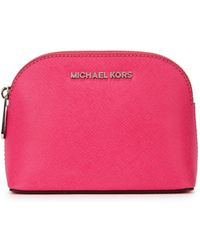 Michael Kors - Cindy Fuchsia Saffiano Leather Pouch - Lyst