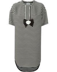 Edward Achour Paris Loose-Fit Striped Crepe Dress - Lyst
