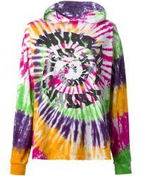 Jeremy Scott Tie Dye Hoodie multicolor - Lyst