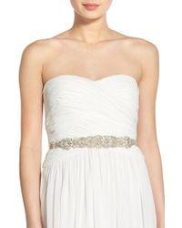 Nestina Accessories - 'loane' Crystal Bridal Sash - Lyst