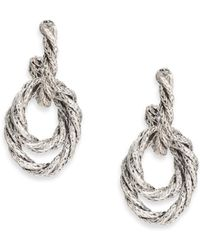 John Hardy | Classic Chain Sterling Silver Drop Earrings | Lyst