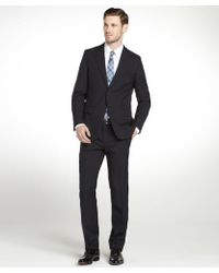 Prada Blue Wool Twobutton Suit with Flat Front Pants - Lyst