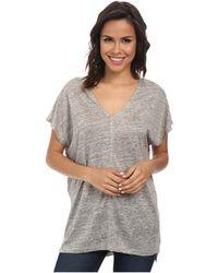 Splendid Melange Linen Jersey Shirt - Lyst