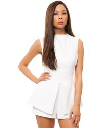 Finders Keepers Take A Bow Playsuit - Lyst