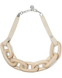 Ben-Amun - Bone, Leather And Silver-tone Necklace - Lyst