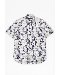 French Connection Vienot Rose Print Shirt - Lyst