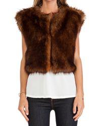 Line & Dot Scarlett Faux Fur Vest - Lyst