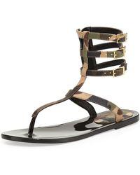 Rachel Zoe Cecille Camoprint Gladiator Sandal - Lyst