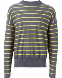 AMI | Striped Sweater | Lyst