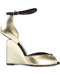 Pierre Hardy 'Arp' Wedge Sandals - Lyst