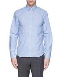 Canali Double Check Cotton Poplin Shirt - Lyst