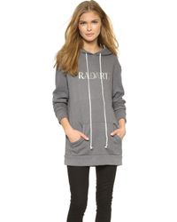 Rodarte Radarte Hoodie - Light Grey gray - Lyst